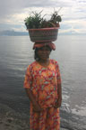 Fruit vendor at Lovina Beach
