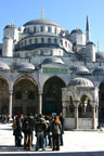 Preparing to tour the Blue Mosque