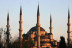 Instanbul's Blue Mosque at sunset