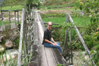 Dave relaxes for a lunch break outside the rainforest in the Cameron Highlands, Malaysia