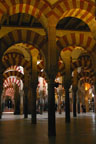 Rythmically repeating arches Grand Mosque, Cordoba, Spain