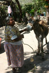 Meeting Boniface's sister and her burro