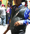 Mexican man with black leather vest