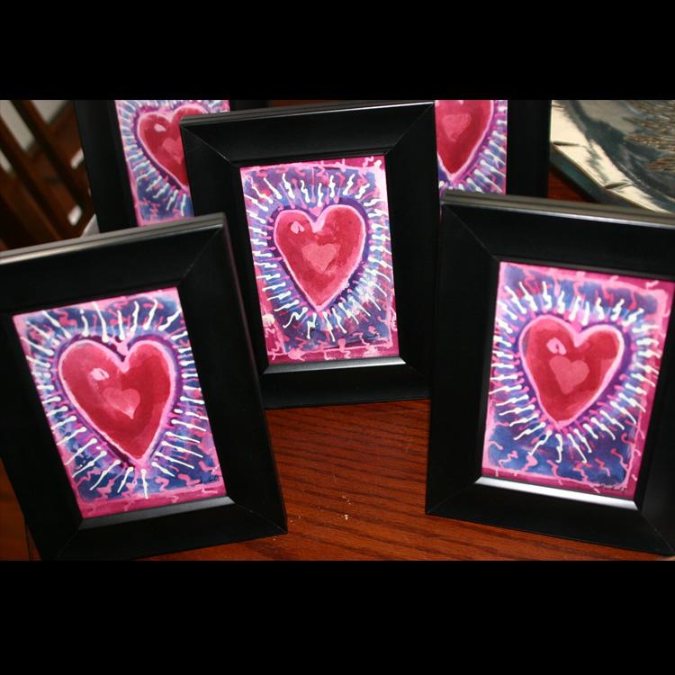 """Hearts"" 4x6 $30 ea."