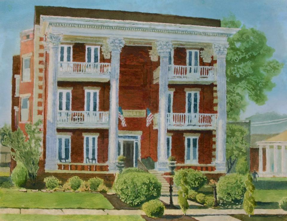 """Lower Town Colonial"" Reproduction Print (giclee) 10"" x 13"" $55"