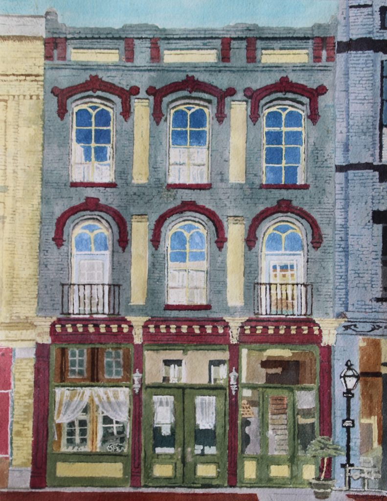"""Down Broadway Victorian"" 20x16 $550 (framed)"