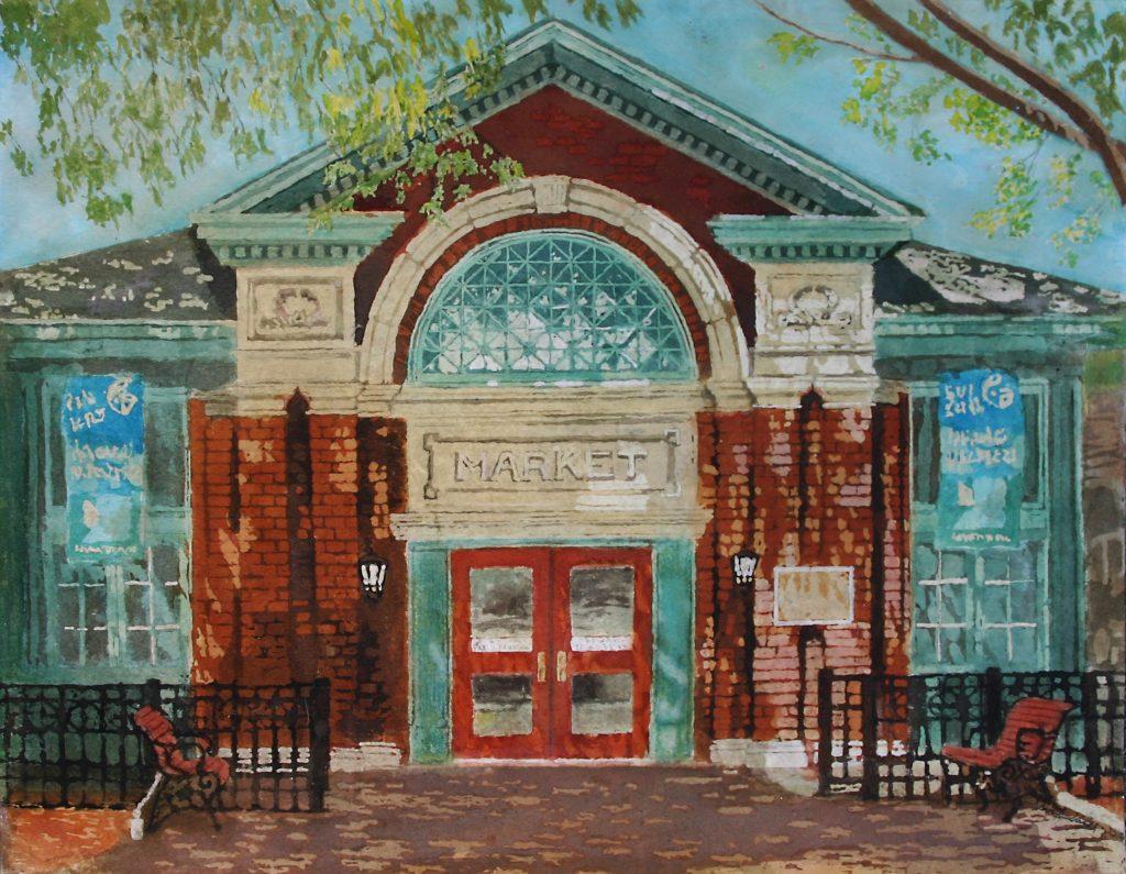 """Stage Front: Market House"" 16x20 $650 (framed)"