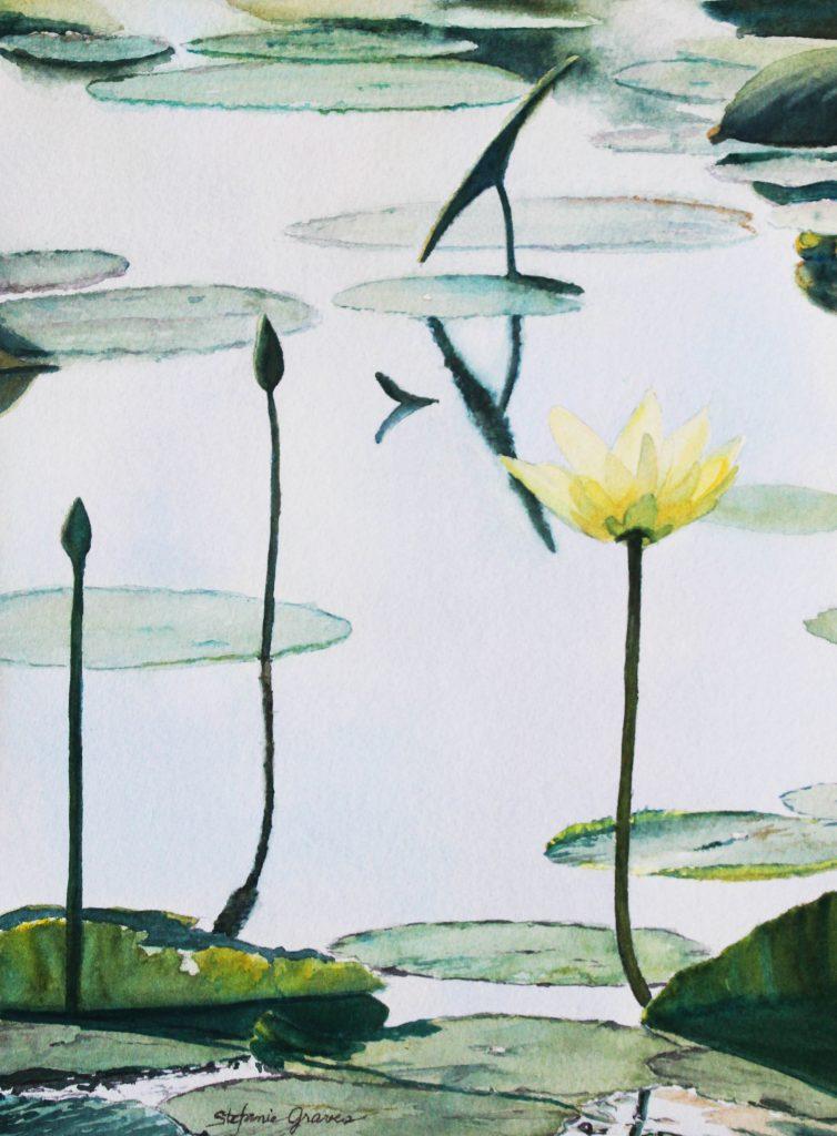 """Mermet Lake in Bloom"" 14 1/2"" x 10 3/4"" $200 (unframed)"
