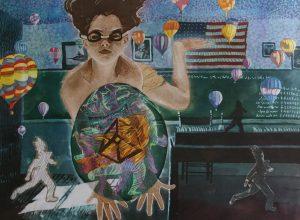 Batik painting by David Lucht